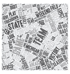 The Big Ten Report text background wordcloud vector