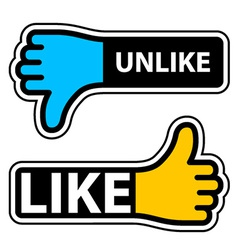 Thumb like unlike labels vector