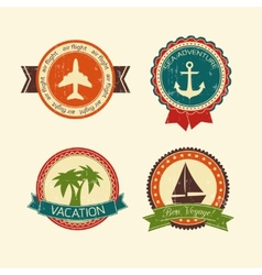 Vacations travel badges collection vector image