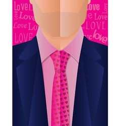 Valentines Day Suit and Tie vector image