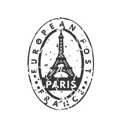 Vintage postage paris mail stamp vector