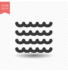 water wave icon simple flat style vector image