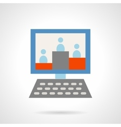 Web audience flat icon vector image