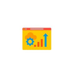 website optimization icon flat element vector image