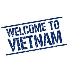 welcome to vietnam stamp vector image