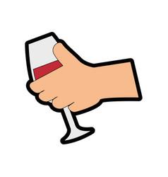 Wine drink cup vector