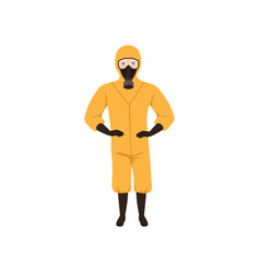 Worker of chemical laboratory wearing orange vector