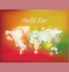 world map in white color and grid background vector image