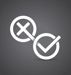 Yes and No symbols vector