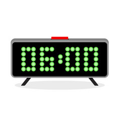 digital clock alarm 6 am vector image