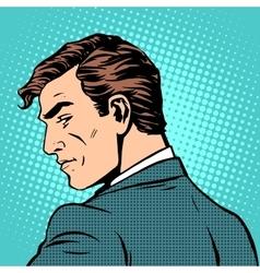 gentleman businessman looks back vector image vector image