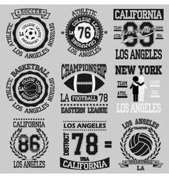 Los Angeles set vector image vector image