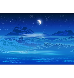 overgrown coast at night vector image vector image