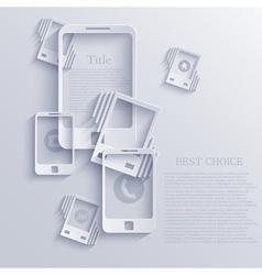 smartphone icon background vector image