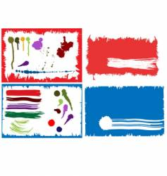 collection of ink design elements vector image