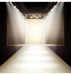 Fashion runway background vector