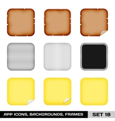 Set Of App Icon Frames Templates Backgrounds Set vector image