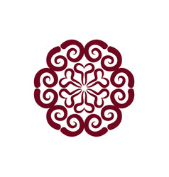 arabic ornament isolated oriental decorative vector image