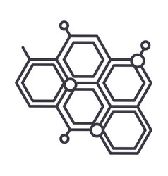 chemical line icon sign on vector image