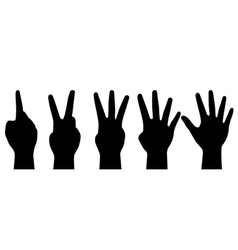 counting hands vector image