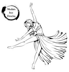 dance line contemporary vector image