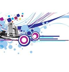 grunge urban city vector image vector image
