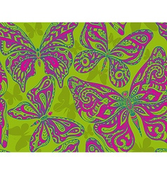 Seamless pattern with hand drawn flying vector image vector image