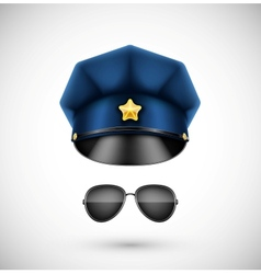 Police accessories vector image