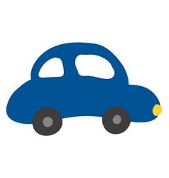 a blue colour car or color vector image