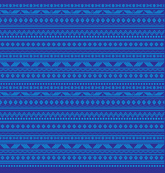 Abstract blue tribal stripes seamless vector