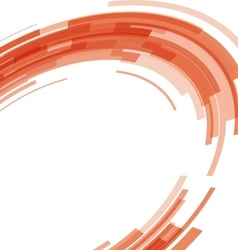 Abstract orange technology circles distorted vector image
