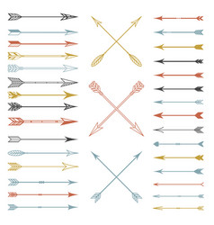 Arrow clip art set in on white background vector
