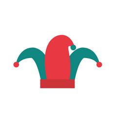Art jester hat carnival style vector