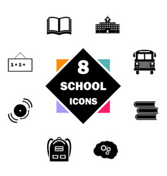 Back to school icon set education icons contains vector