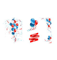balloons national american decor vector image