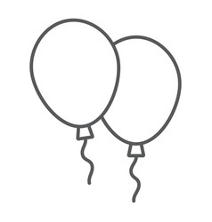 balloons thin line icon air and helium vector image