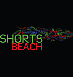 Beach wear on st maarten text background word vector