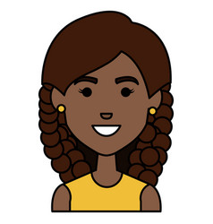 beautiful african woman avatar character vector image