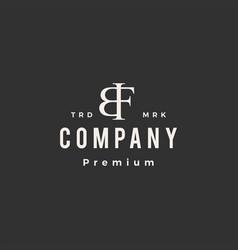 bf letter mark hipster vintage logo icon vector image