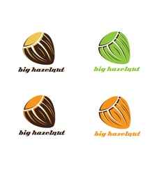 Big hazelnut vector