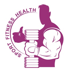 Bodybuilder hand vector