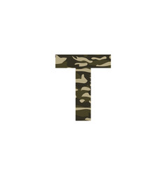 camouflage logo letter t vector image