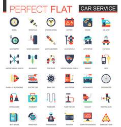 Car service complex flat icon concept web vector