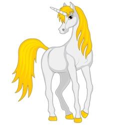Cartoon fairy unicorn vector