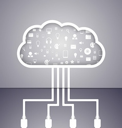 Cloud computing technology abstract concept vector