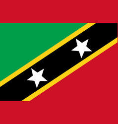 Colored flag of saint kitts and nevis vector