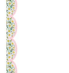 daisy border vector image