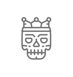 death mask tattoo sketch line icon vector image
