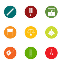 Defect icons set flat style vector