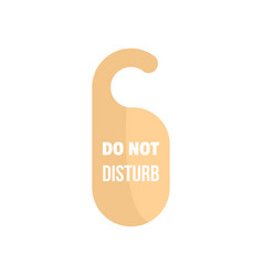 do not disturb hotel tag icon flat style vector image